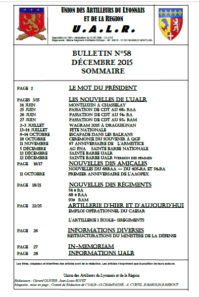 Bulletin n 58